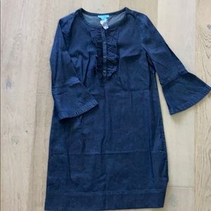 Draper James ruffle shirt dress size 10